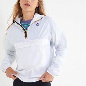 K-Way White Windbreaker Jacket Sant Ambroeus Zip